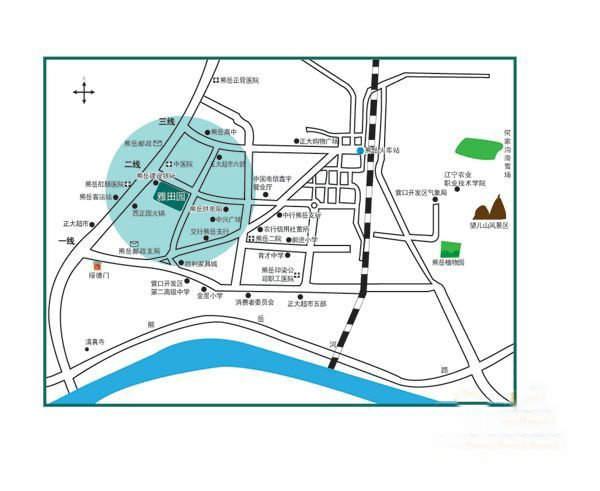 雅田园交通图