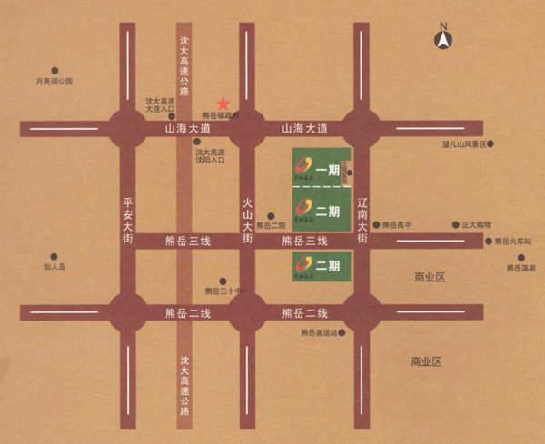 金灿花园交通图