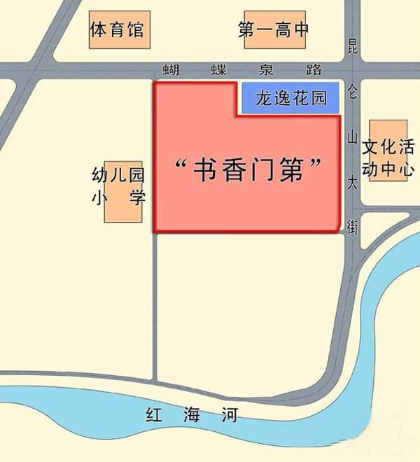 湾畔·书香门第交通图