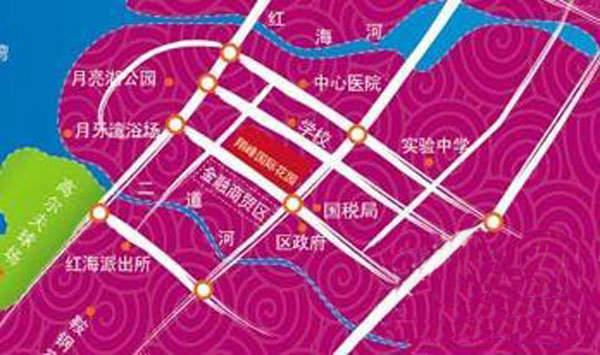 翔峰国际花园交通图