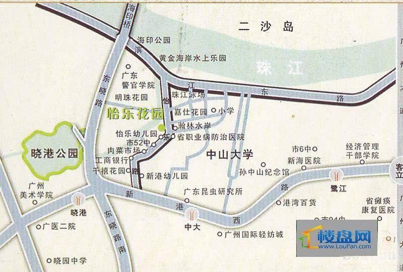 怡乐花园交通图