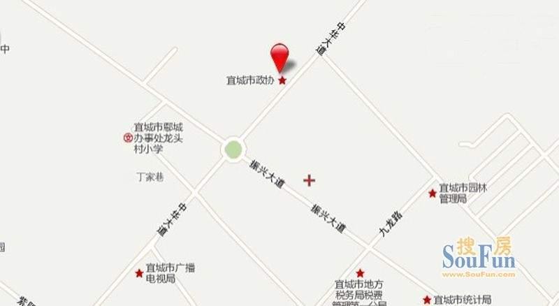 益龙湖畔人家交通图