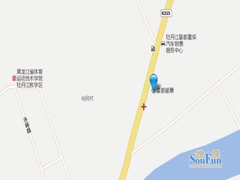 皇都郦景三期B区交通图