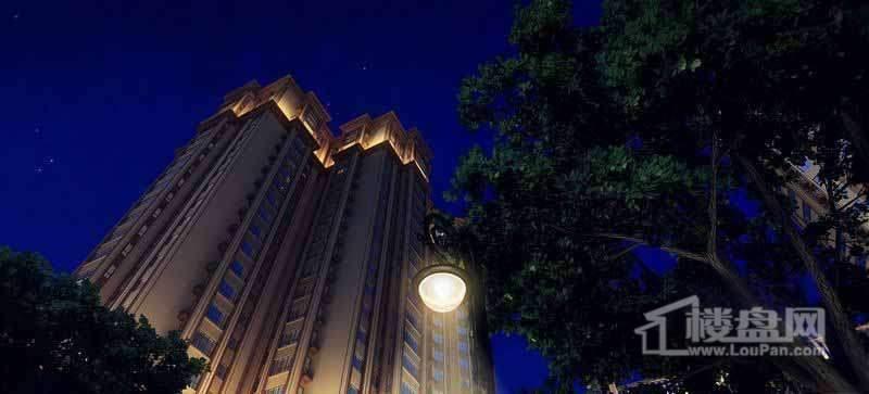 长禹星港湾项目效果图夜景园林