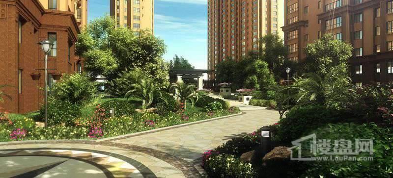 长禹星港湾项目楼体及园林效果图
