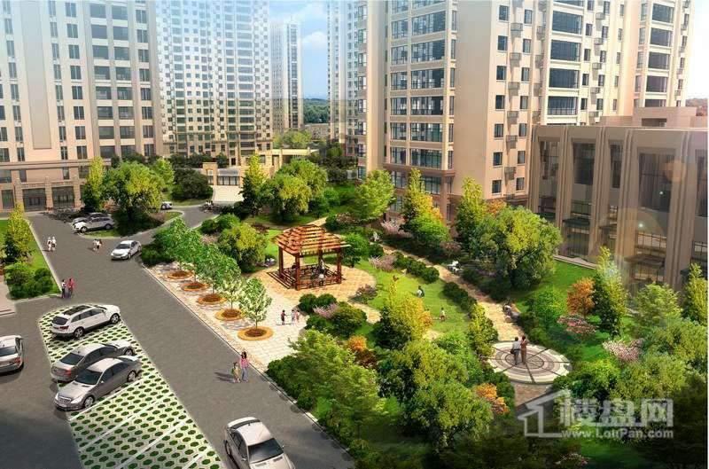 红星城百木沁春景观区效果图