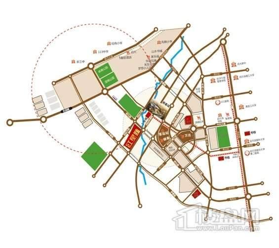 红星城区位图
