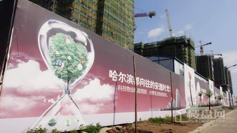 半里花庭外部围挡实景图(2012-6-20)