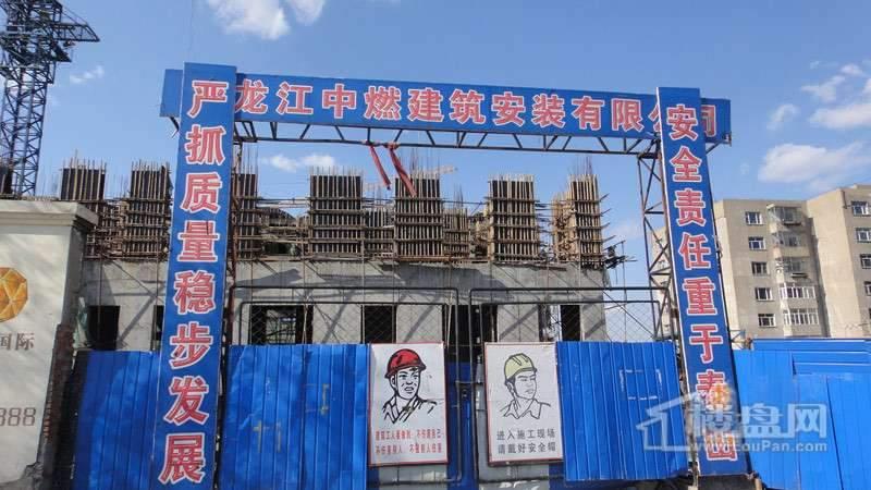 丽都国际项目施工入口实景图(2012-04-26)
