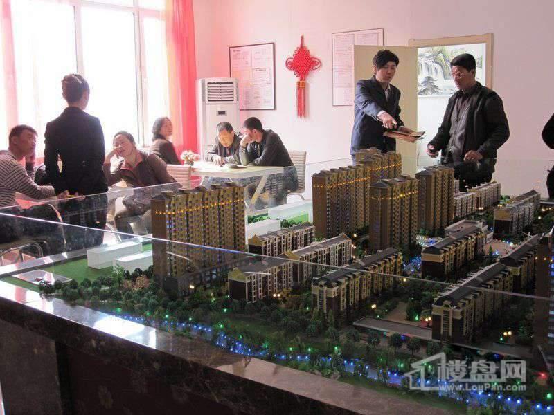 金河铭苑沙盘实景图(2011.4.17)