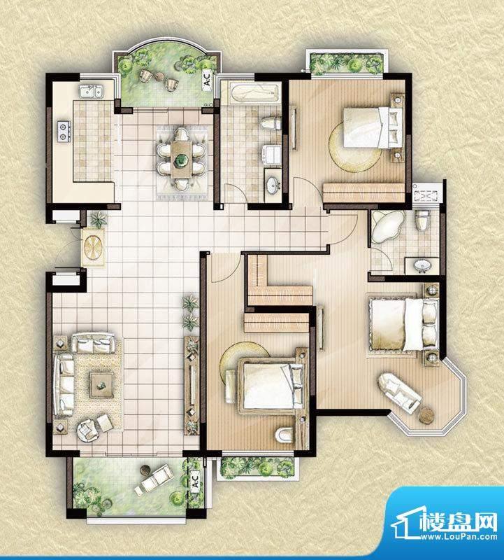 颐景苑皇都漫城21#2面积:142.94平米