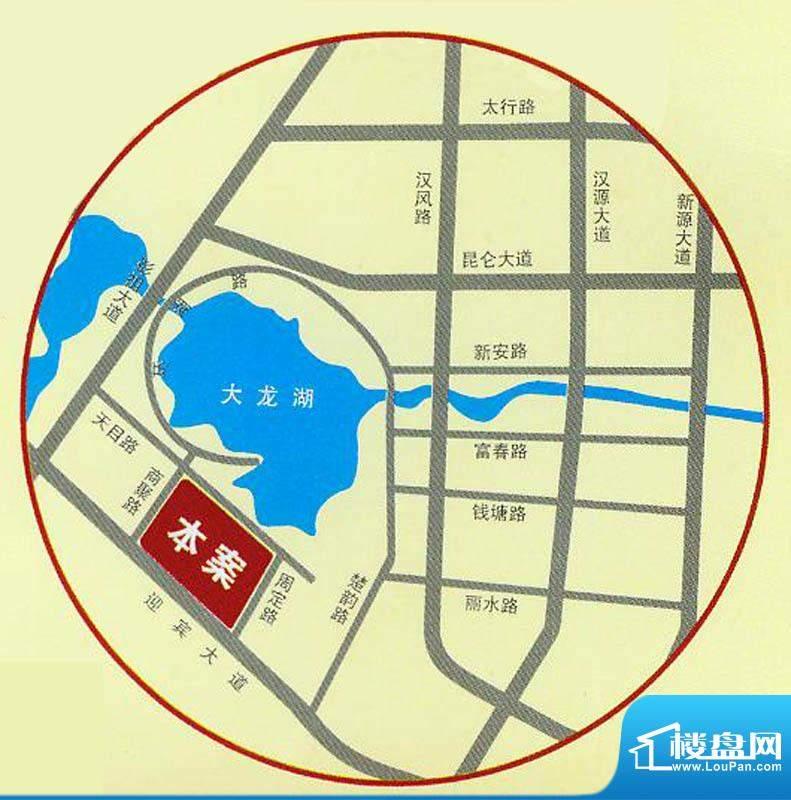 中茵龙湖国际交通图
