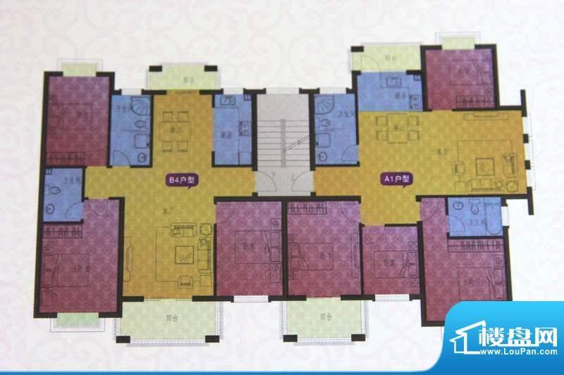 名仕紫金花园B4/A1户面积:123.00平米