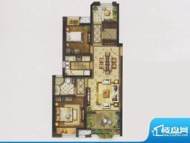 金地艺境褐石公寓户面积:99.00平米