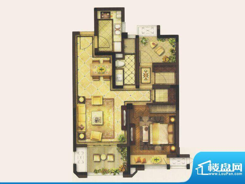 金地艺境褐石公寓户面积:82.00平米
