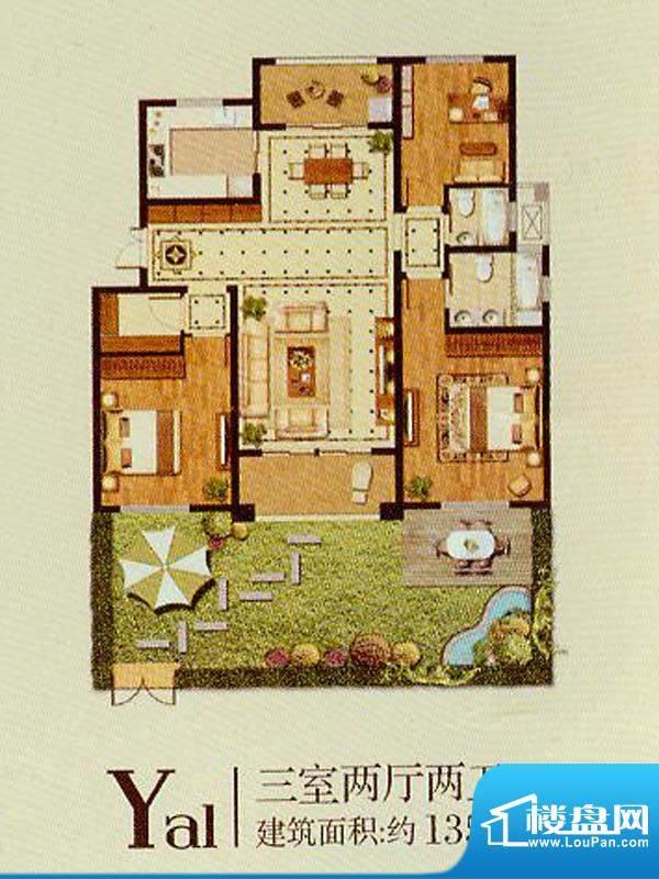 润金城Ya1户型 3室2面积:135.00平米