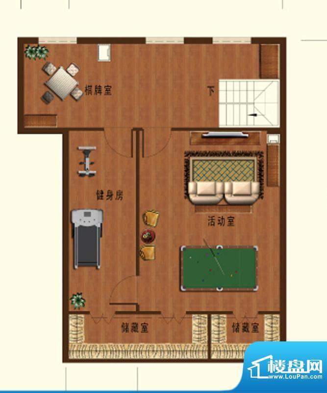 德信九龙城D户型(阁面积:123.00平米