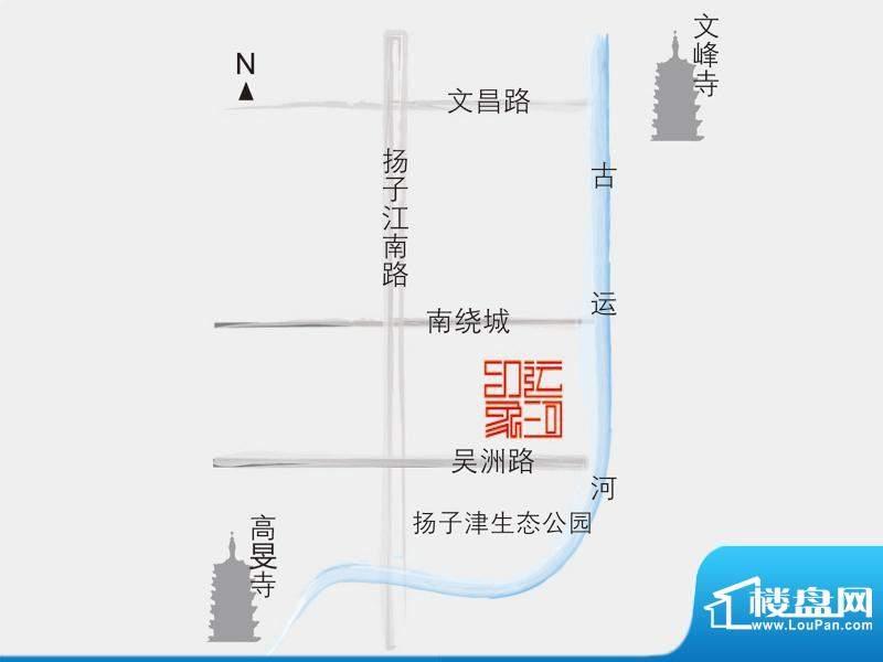 江扬运河印象交通图