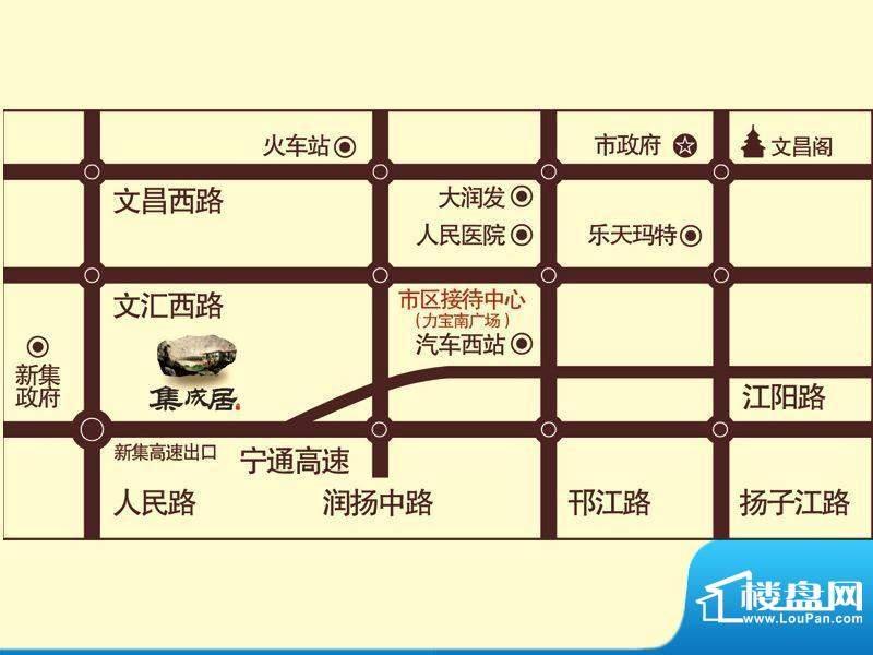 集成居交通图