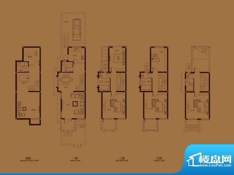 集成居联排别墅L1-1面积:191.04平米
