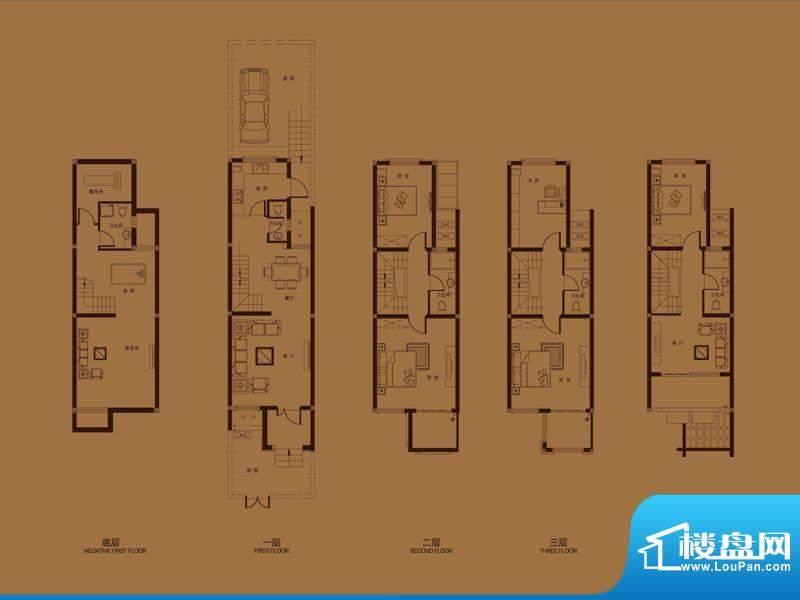 集成居联排别墅L1-2面积:200.60平米