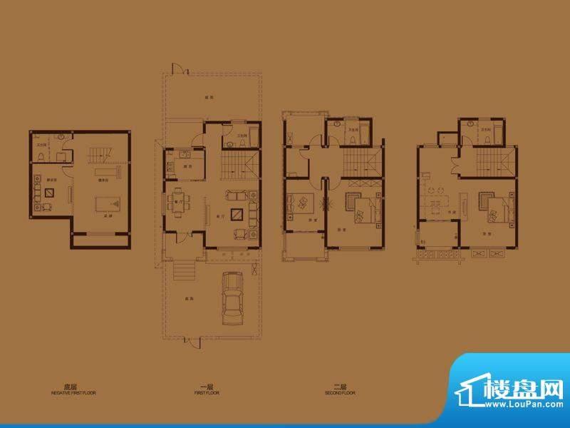 集成居联排别墅L5-1面积:191.04平米