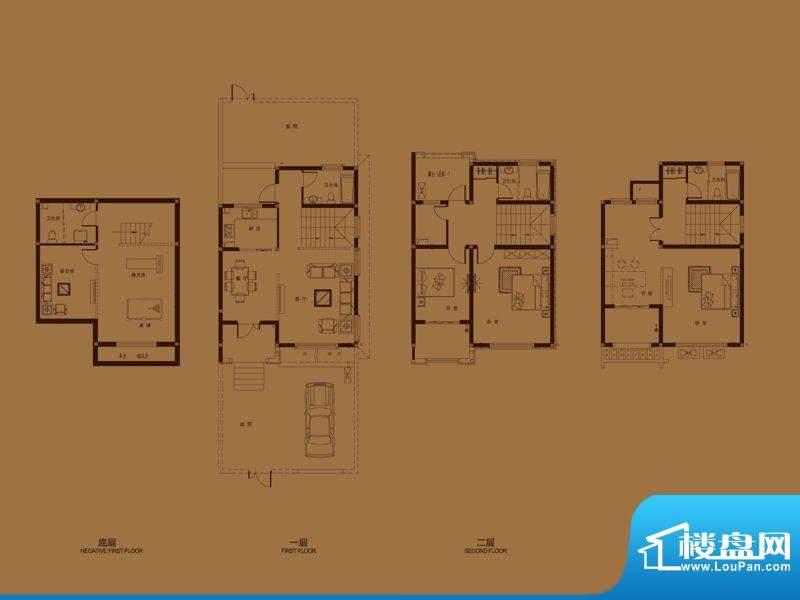 集成居联排别墅L5-2面积:197.29平米