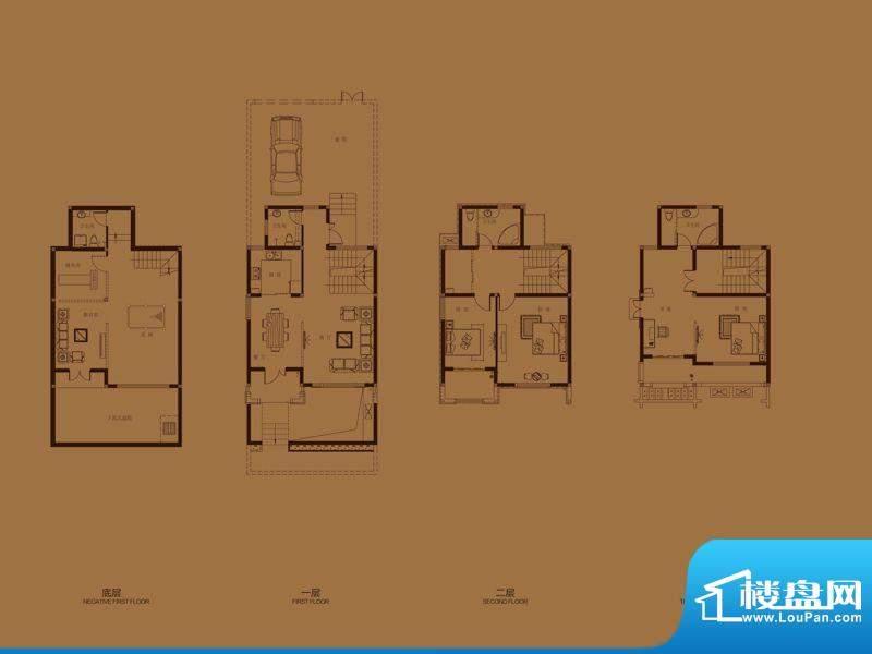 集成居联排别墅L10户面积:195.92平米