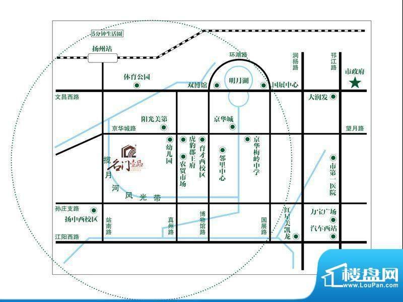 名门壹品交通图