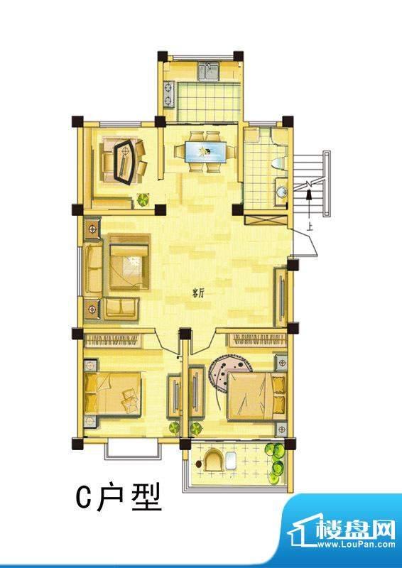 汇景国际C户型 3室2面积:115.00平米