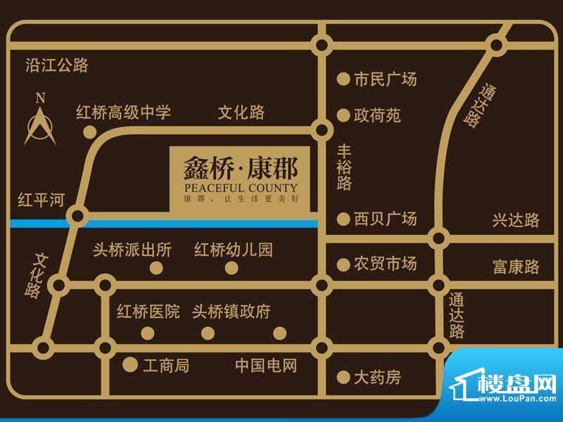 鑫桥康郡交通图