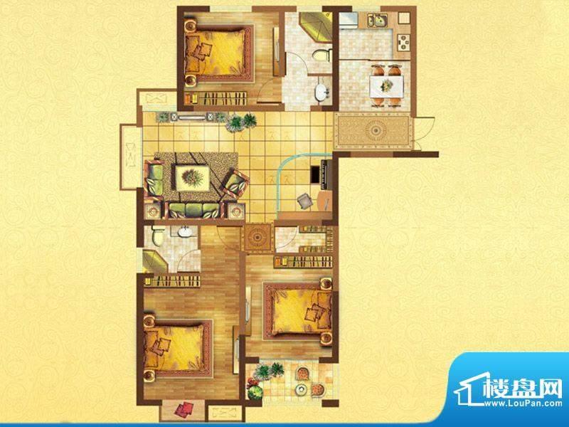 时代国际B户型 3室2面积:132.00平米