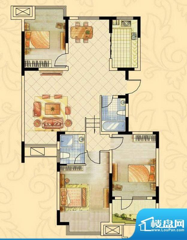 阿尔卡迪亚文承苑5#面积:112.87平米