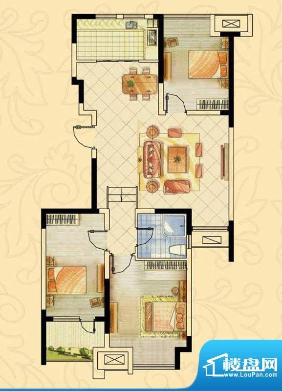 阿尔卡迪亚文承苑7、面积:90.93平米