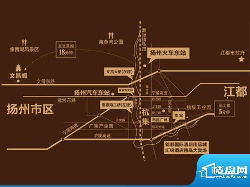 锦都豪庭交通图