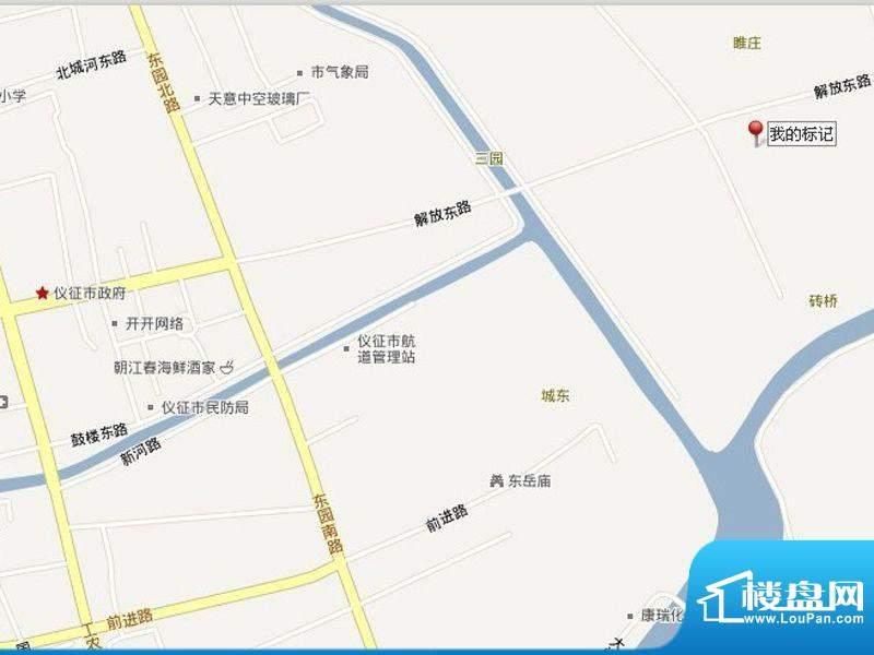 仪征帝景蓝湾交通图