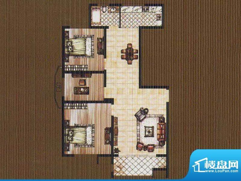 锦都豪庭GE户型 3室面积:110.00平米