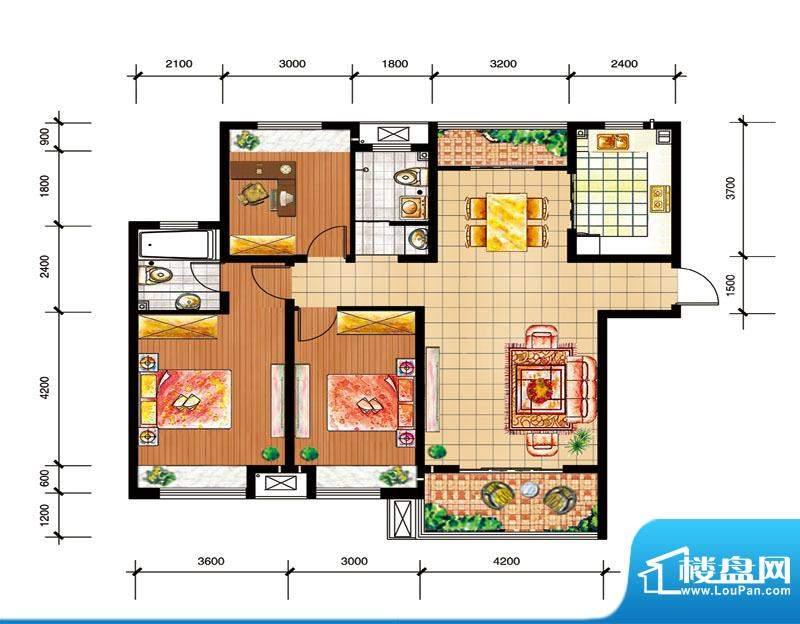 尚仕名邸I户型 3室2面积:131.00平米
