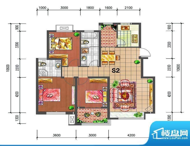 尚仕名邸S2--单层户面积:121.00平米