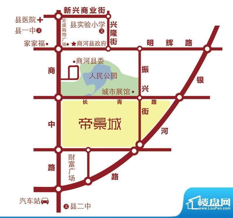 鑫隆·帝景城交通图