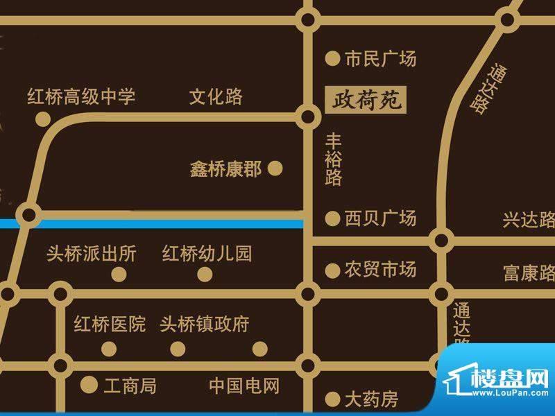 政荷苑交通图