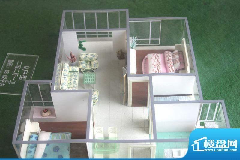 怡景新城Q户型 2室2面积:88.02平米