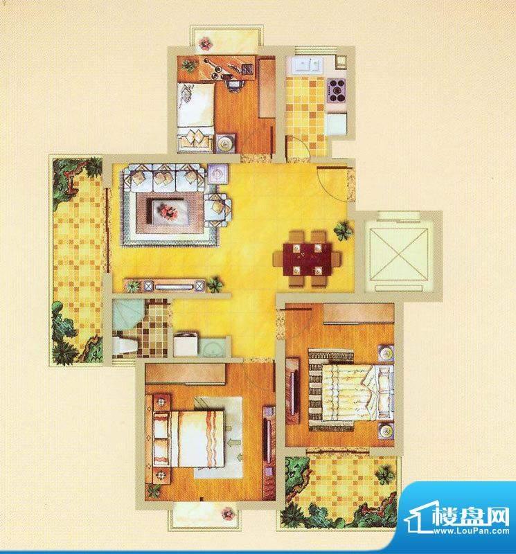 奥体清华苑小高层H-面积:0.00平米