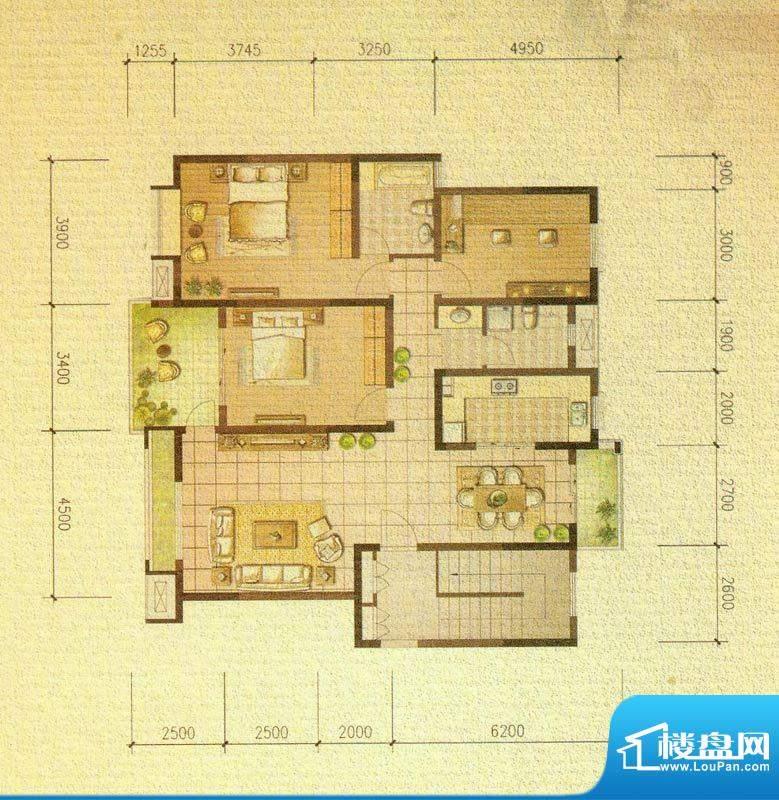 国信金邸世家D 3室2面积:131.00平米