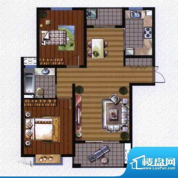 广陵世家3、4号楼G1面积:99.44平米