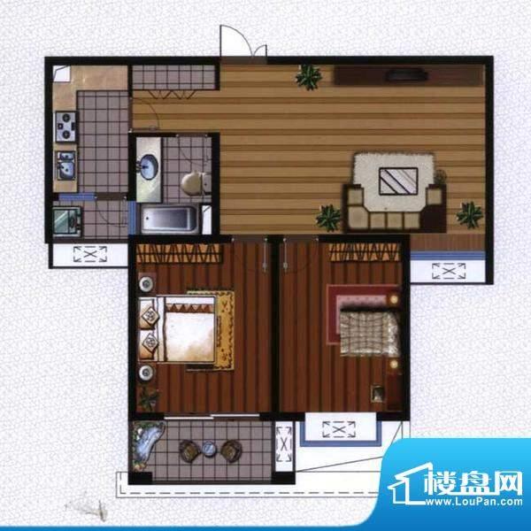 广陵世家3、4号楼G2面积:92.74平米