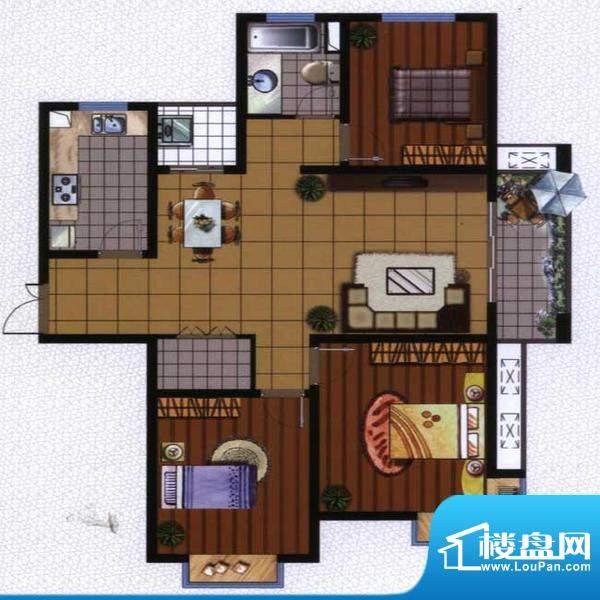 广陵世家3、4号楼G3面积:113.59平米