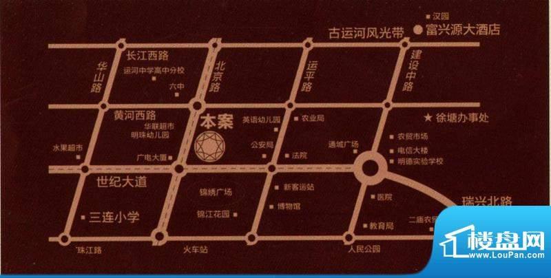 富贵第一城交通图