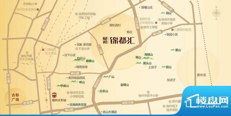 恒邦·锦都汇交通图