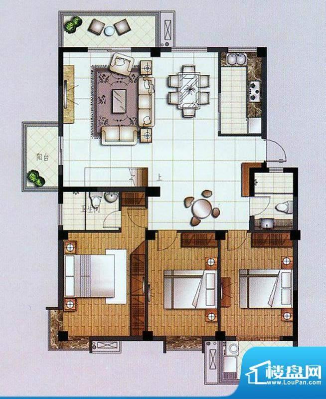 水杉御景8#楼六层 3面积:139.50平米